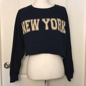 Forever 21 New York Crop Sweatshirt Size S